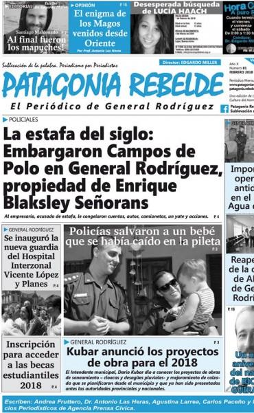 Patagonia Rebelde febrero 2018
