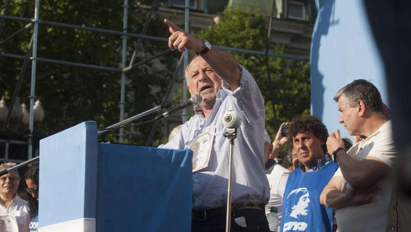 HUGO YASKY: El controvertido dirigente adelantó que el martes la CTA anunciará el paro
