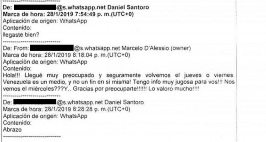 Exclusivo: los chats entre Marcelo D'Alessio y Daniel Santoro PERFIL accedió al expediente que lleva adelante el juez Ramos Padilla.