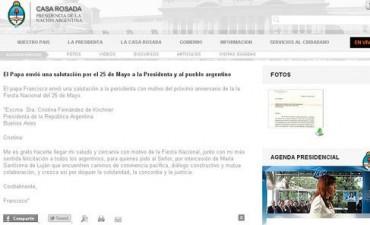 El vocero del Vaticano dice que la carta del Papa a Cristina por el 25 de mayo es trucha