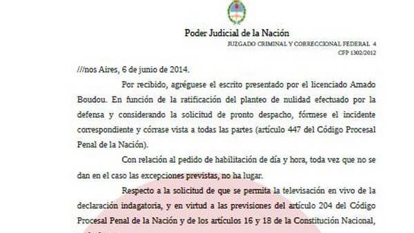Caso Ciccone: El juez Lijo no hizo lugar al pedido de televisación de la indagatoria de Boudou