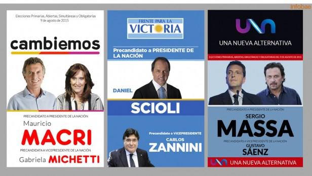 ELECCIONES 2015: Ya se definieron las 13 fórmulas presidenciales
