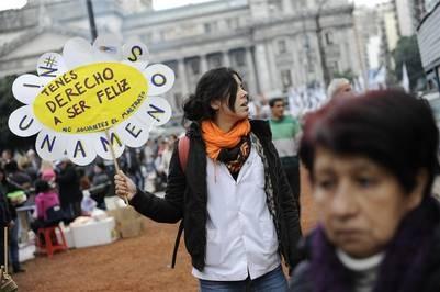 #NiUnaMenos: miles de personas se concentraron en el Congreso