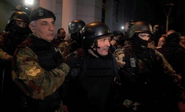 TRASLADO: José López fue llevado a la Departamental de Moreno