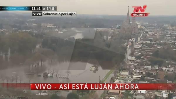 INUNDACIONES: El Río Luján ya superó la inundación del año pasado: está en 5,40 metros
