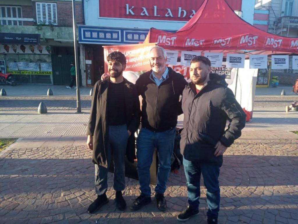 Alejandro Bodart visitó Luján para acompañar a los candidatos locales del MST