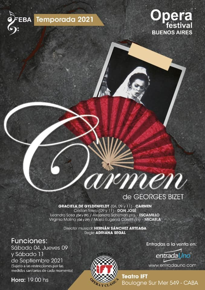 FEBA Presenta la Opera Carmen de Georges Bizet