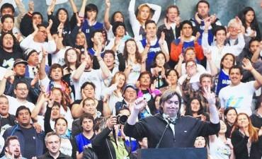 LA CAMPORA: Maximo Kirchner en campaña