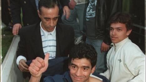 Un ex amigo de Maradona, preso por drogas