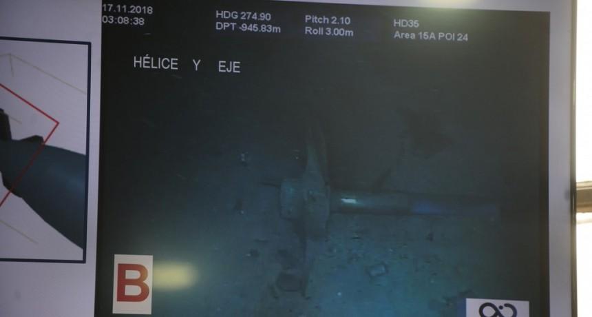 Las primeras imágenes del submarino hundido
