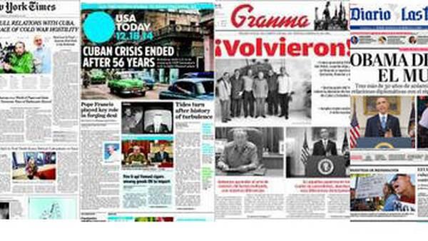 Diarios de EE.UU. y Cuba reflejaron el cambio histórico