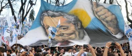Multitudinario acto de cierre de homenajes a Néstor Kirchner