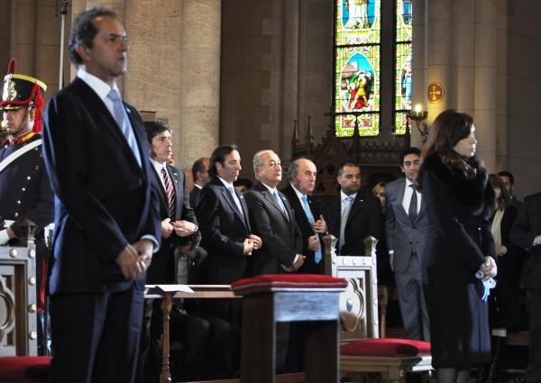 Tedeum: La presidente Cristina Fernández estuvo presente en Luján