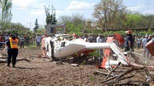 Se estrelló el helicóptero en el que viajaba el gobernador Gioja y murió una diputada